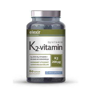 K2+D3 Vitamin 60 kap Elexir Pharma