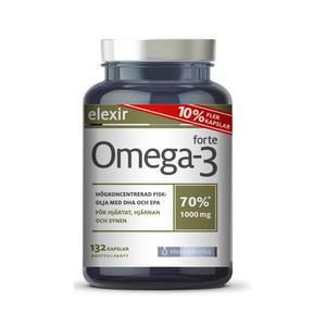 Omega-3 Forte 1000 mg 132 kap Elexir Pharma