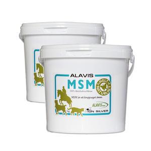 2 x Alavis MSM 1 kg Ion Silver