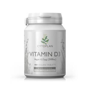 D3-vitamin 62,5 mcg vegan 60 tab Cytoplan