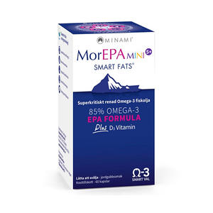 MorEPA Mini Junior med D-vitamin 60 kap